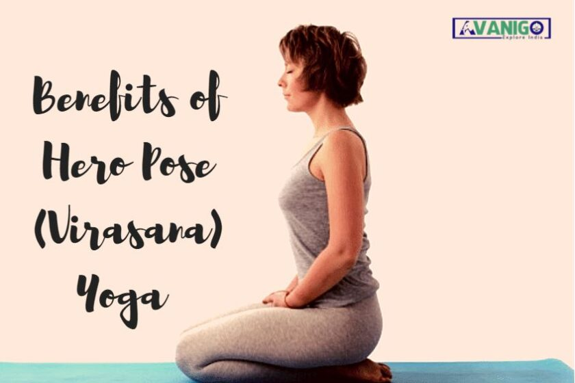 Hero pose yoga