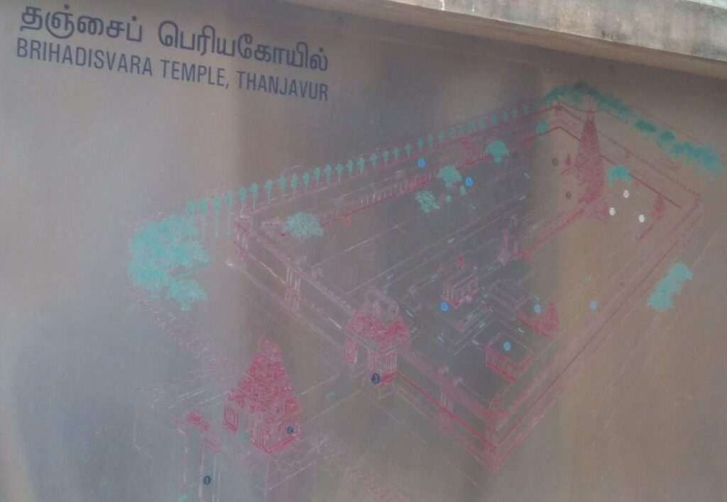 Temple Map in the premises