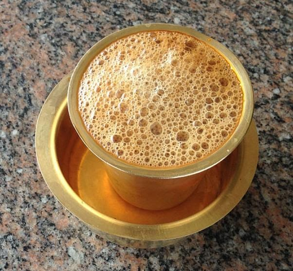 South Indian Style Coffee Served Traditionally