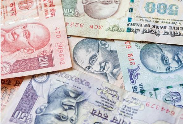 Gandhi image on currency