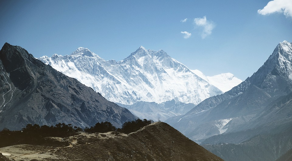 Mount Everest in Himalayas