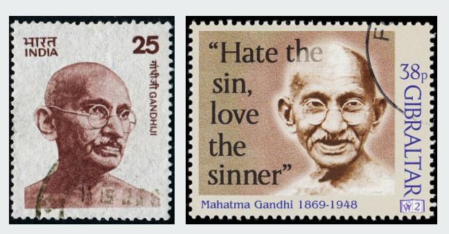 Stamps on Gandhi