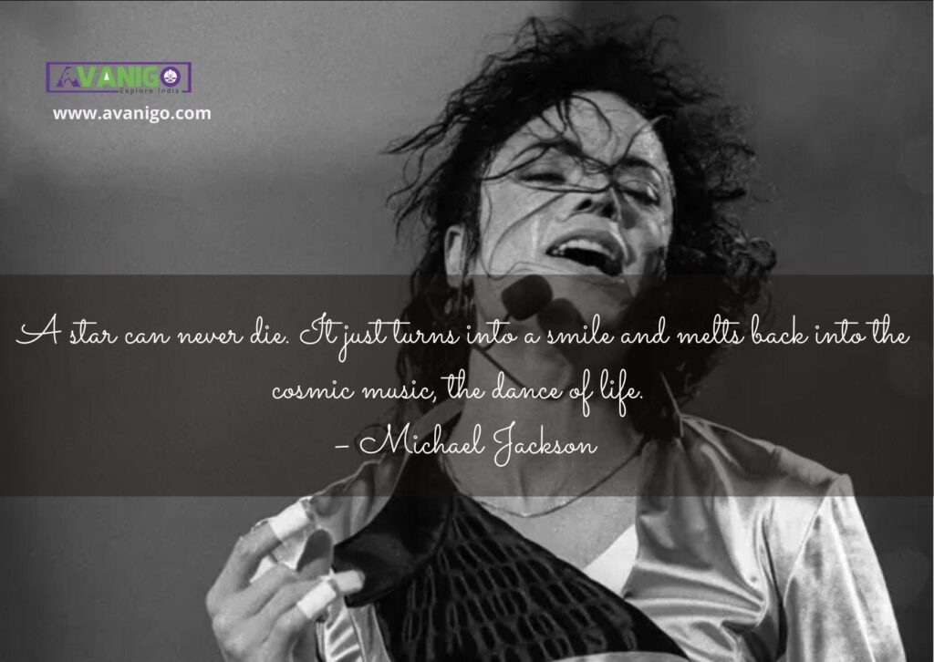 A star can never die. It just turns into a smile and melts back into the cosmic music, the dance of life.